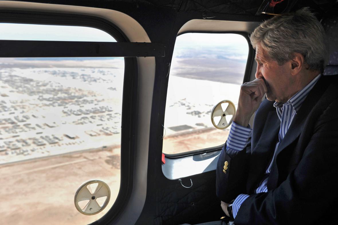 John Kerry na návštěvě Jordánska