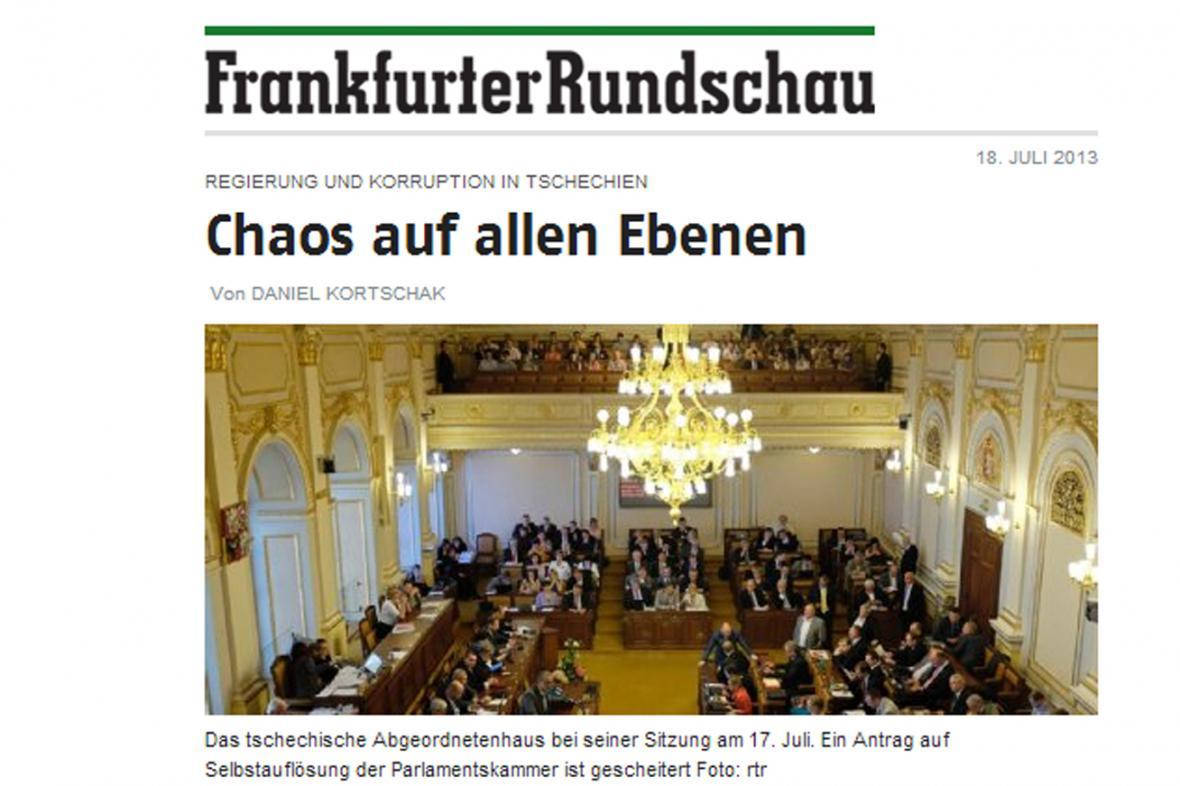 Frankfurter Rundschau o chaosu v Česku