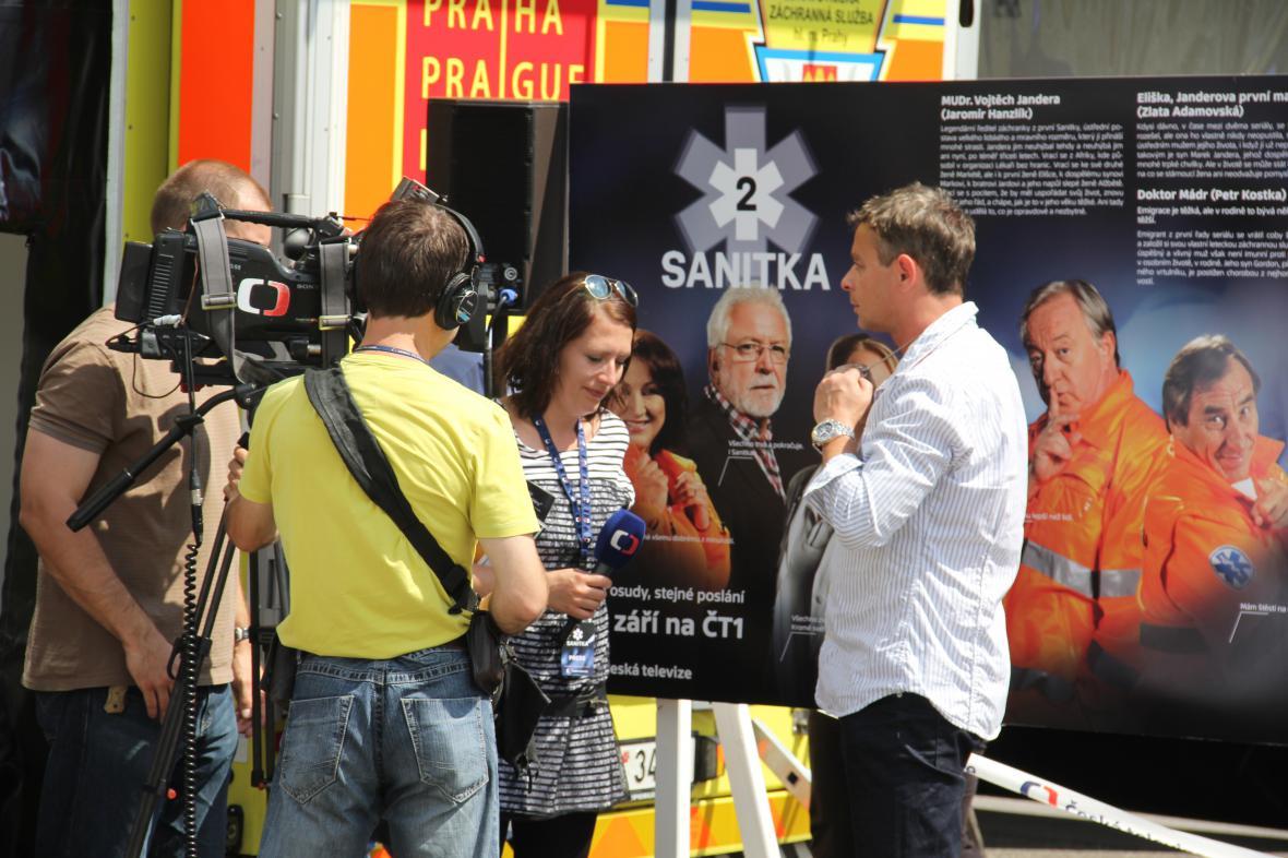 Filip Renč při rozhovoru pro ČT
