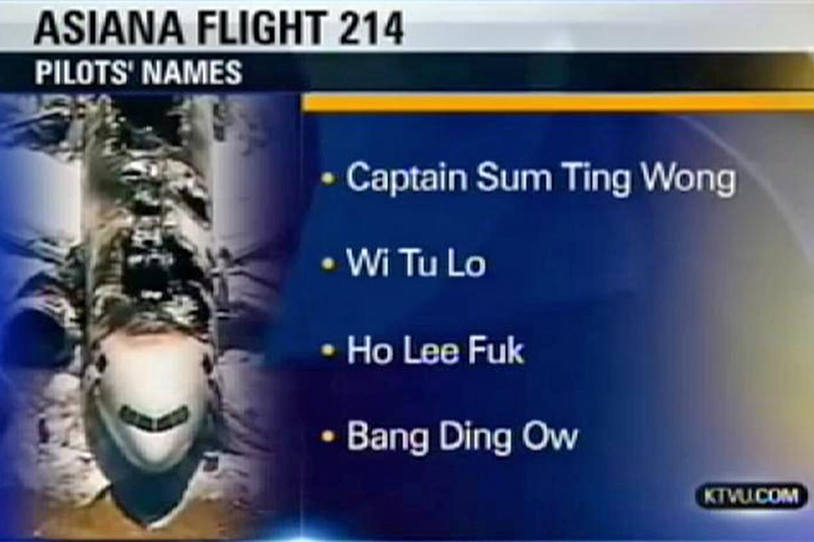 Žertovná jména pilotů havarovaného boeingu
