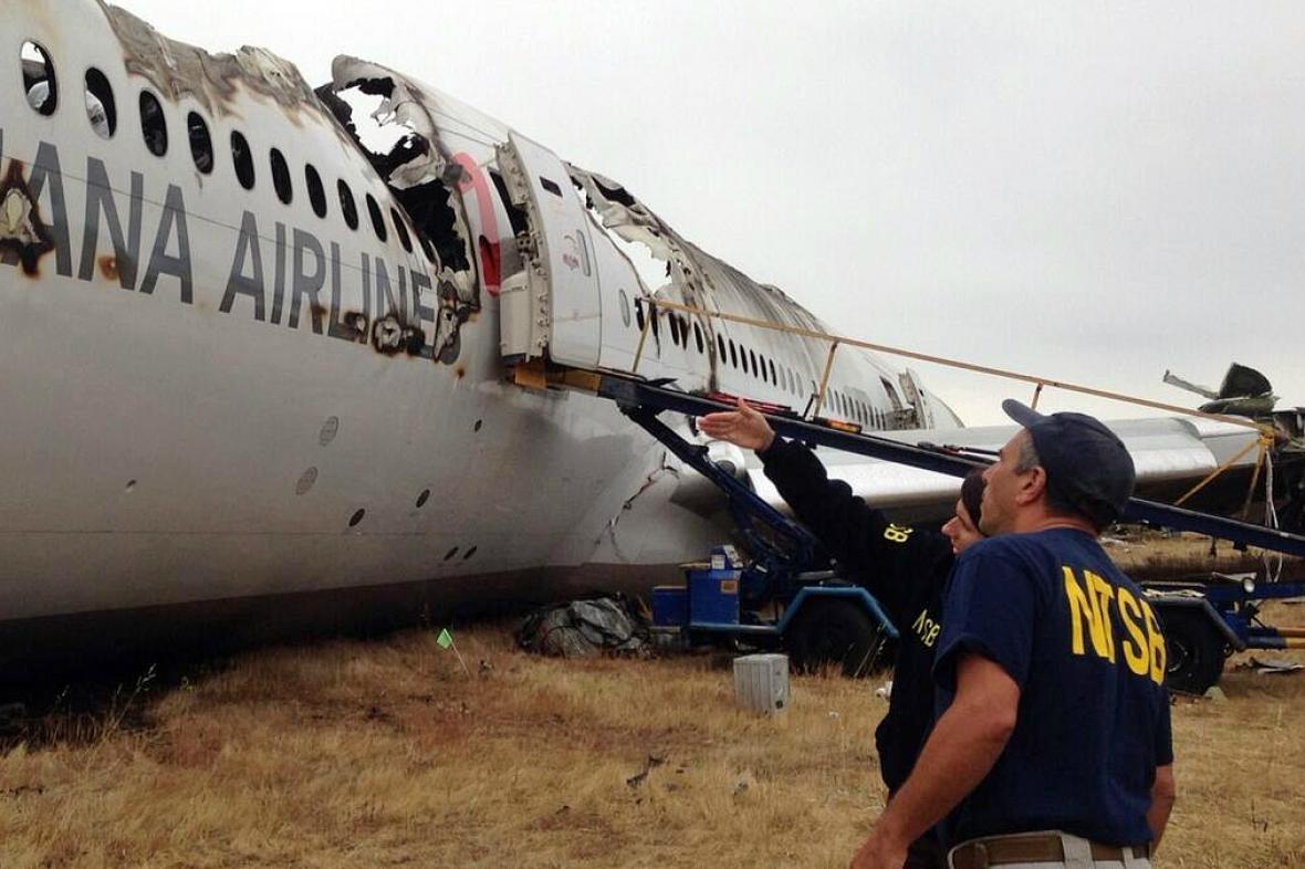 Havarované letadlo v San Franciscu