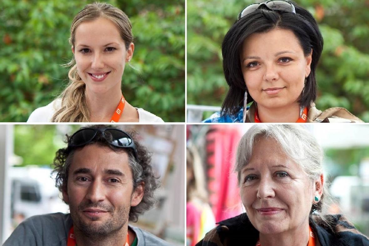 Hosté Čaje o třetí: Romana Mazalová, Silvie Dymáková, Jakub Hejna, Helena Třeštíková