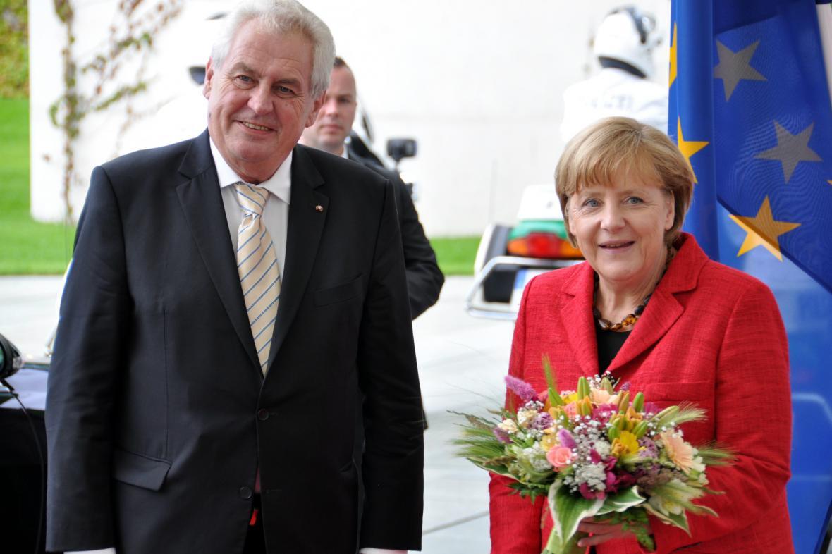 Miloš Zeman s Angelou Merkelovou