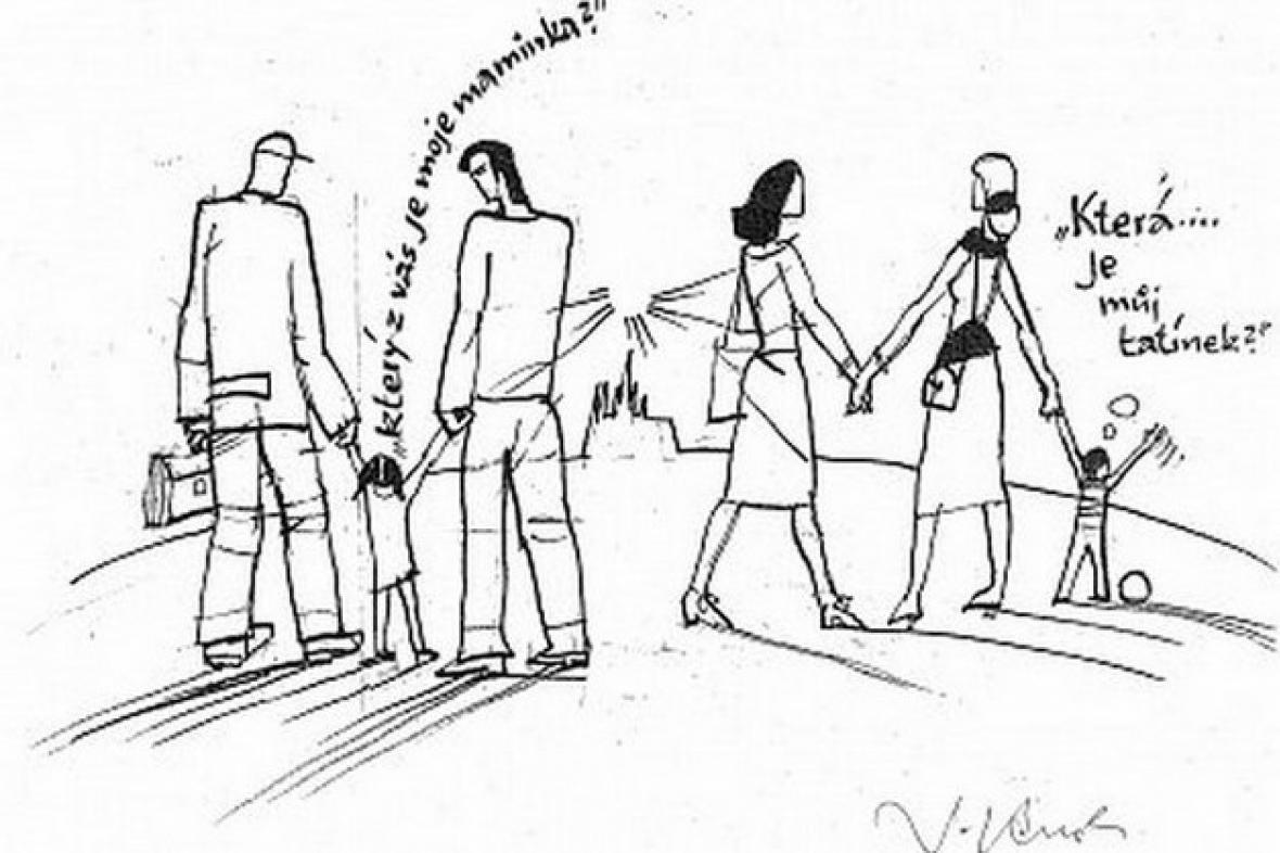 Karikatura zveřejněná na Klausově webu