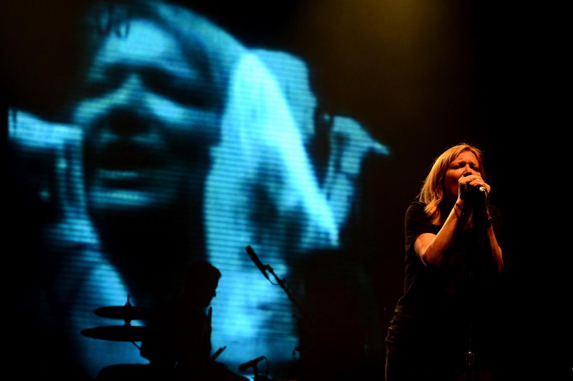 Beth Gibbons na pražském koncertu Portishead
