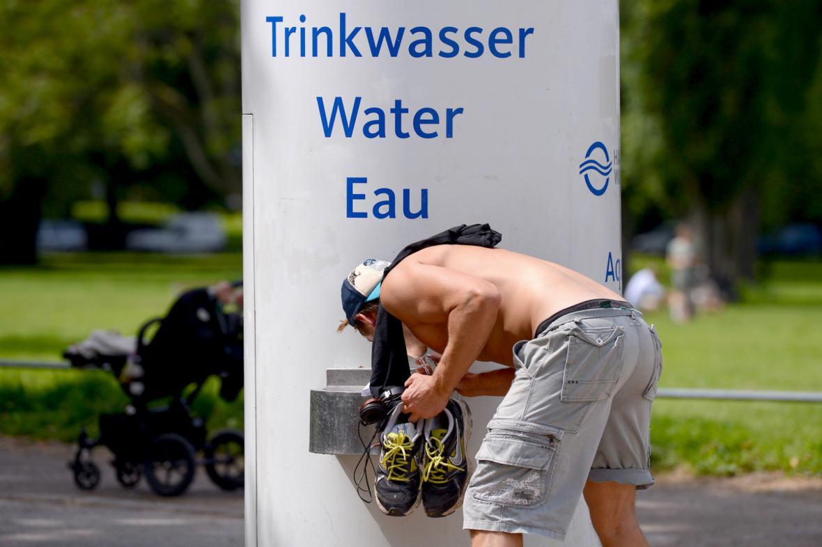 Rekordní vedra v Německu