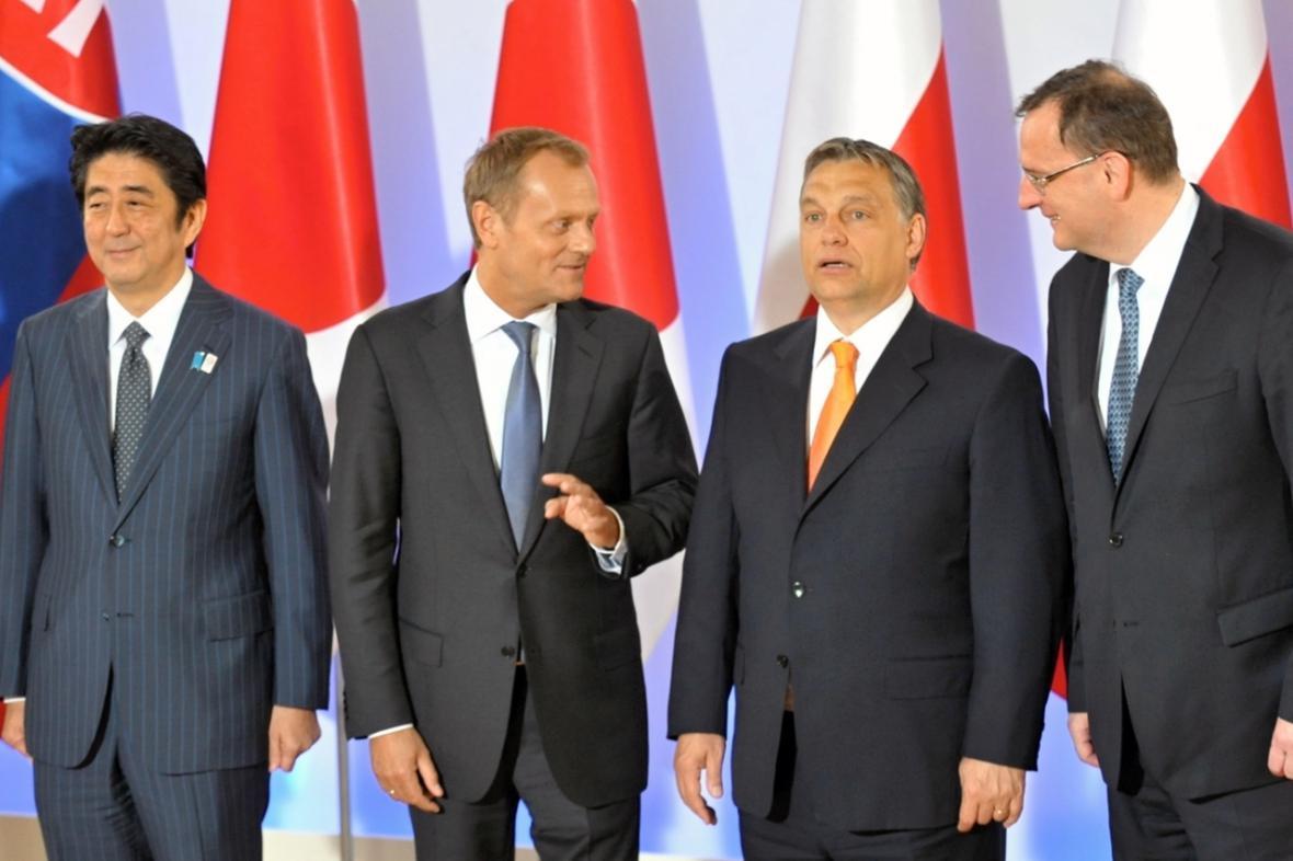 Summit zemí visegrádské čtyřky a Japonska