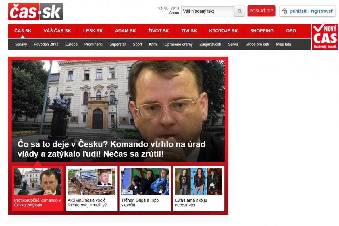 Čas.sk o aféře v Česku