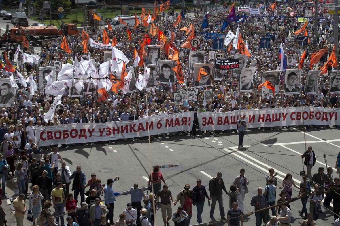 Opoziční protest v Moskvě