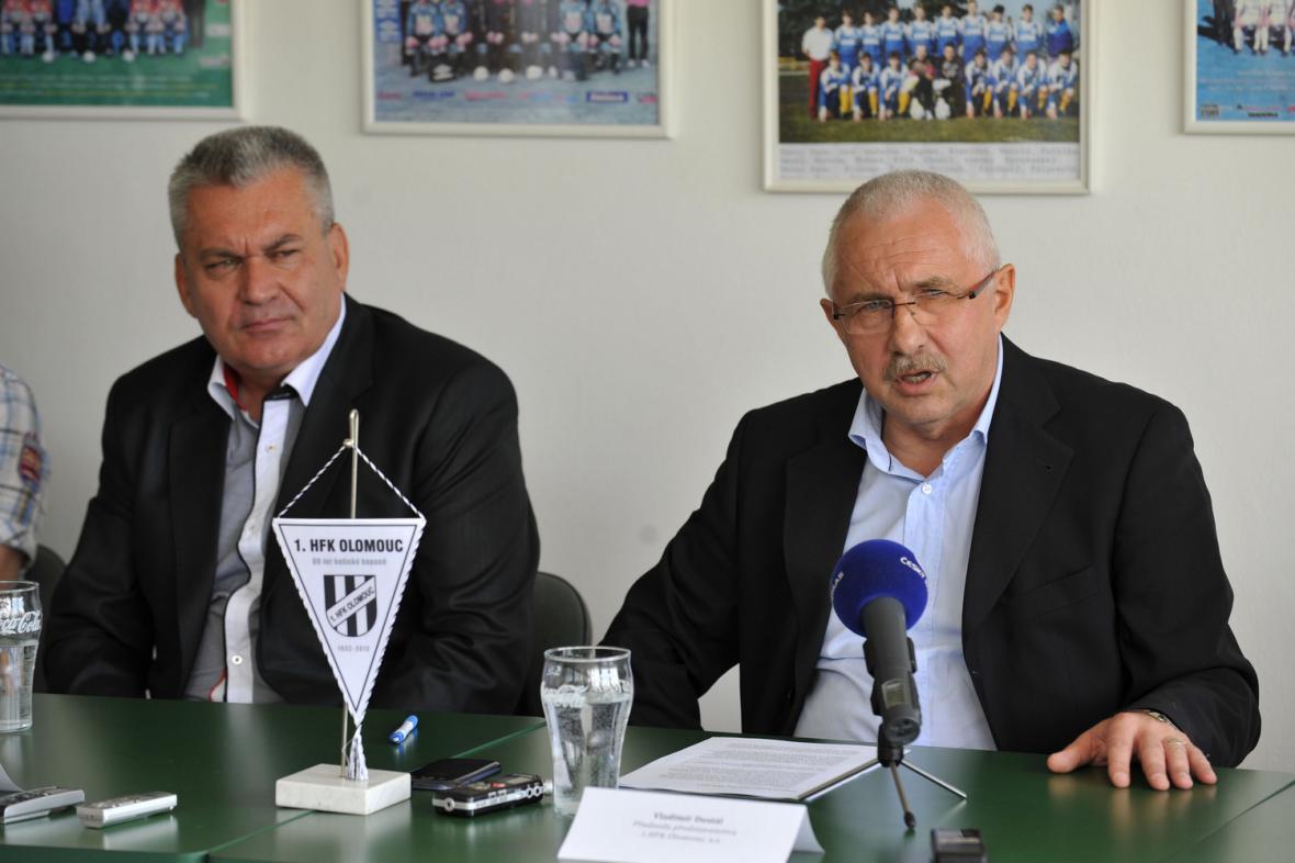 Předseda představenstva 1. HFK Olomouc Vladimír Dostál