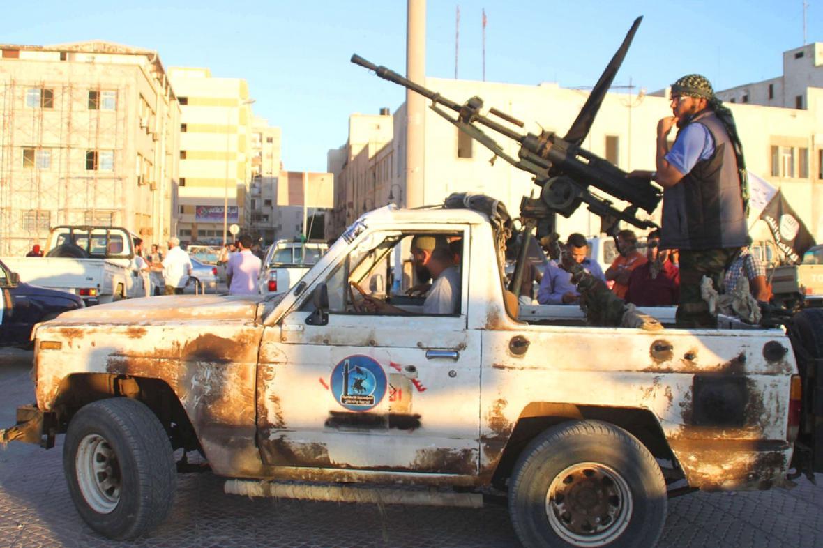 Bojové jednotky v Benghází