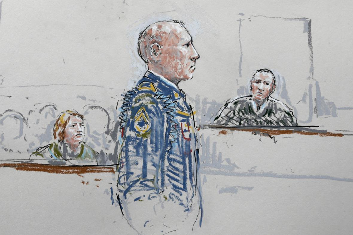 Robert Bales před soudem
