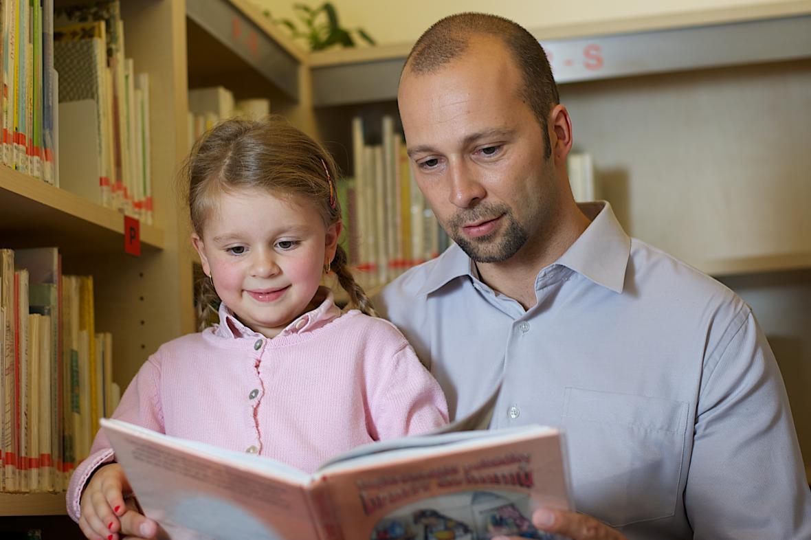 Petr Malý s dcerou