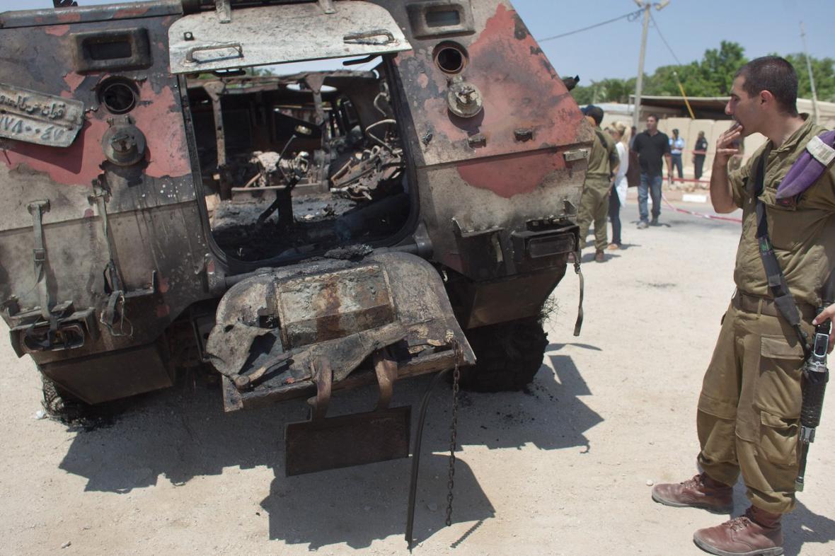 Útok islamistů na egyptské pohraničníky