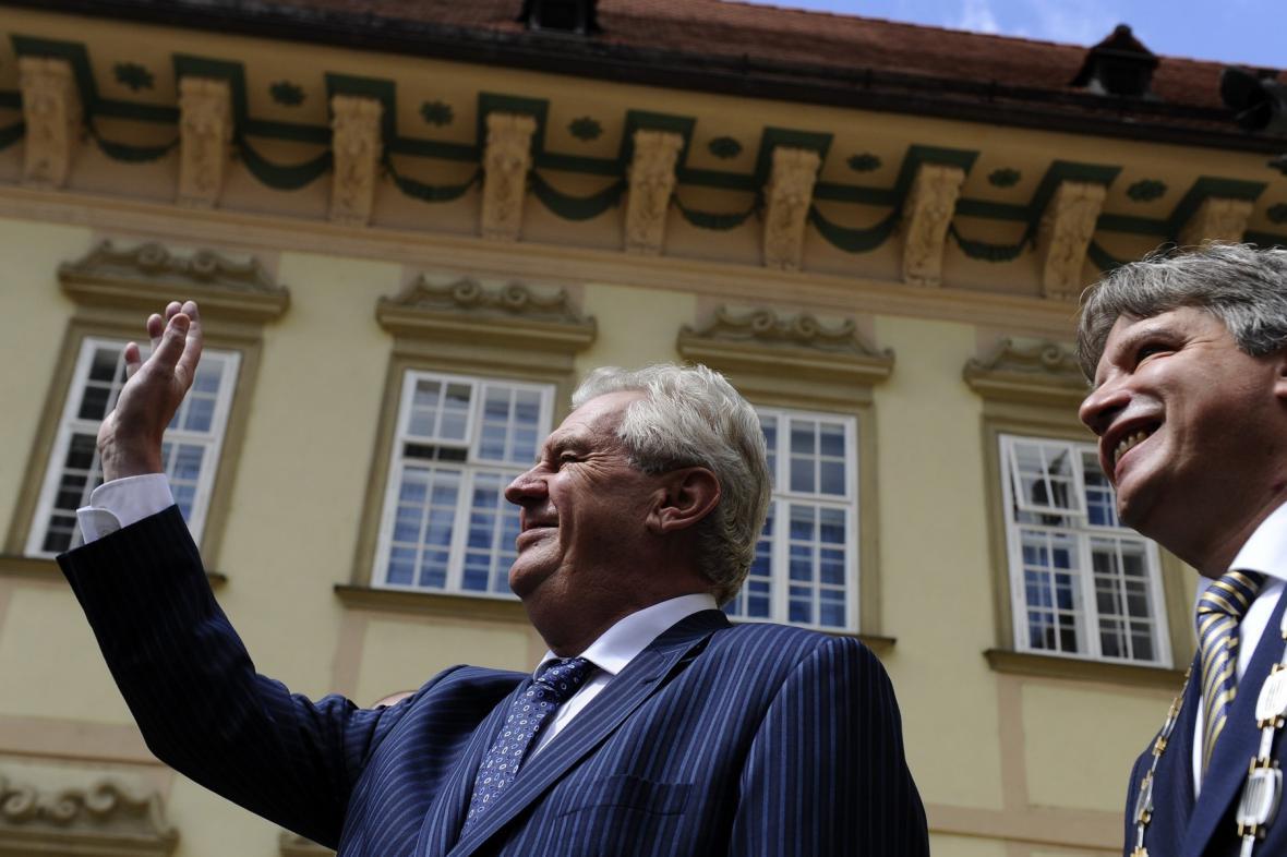 Miloš Zeman s brněnským primátorem Romanem Onderkou