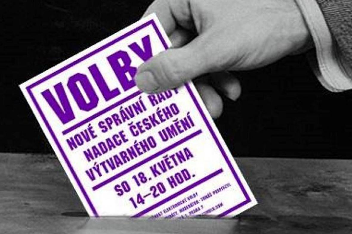Plakát k volbám stínové správní rady