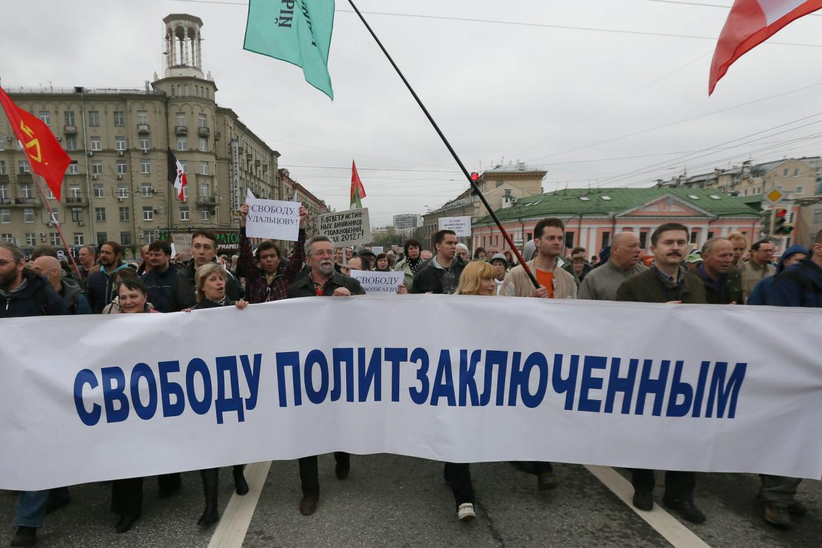 Demonstrace opozice v Moskvě
