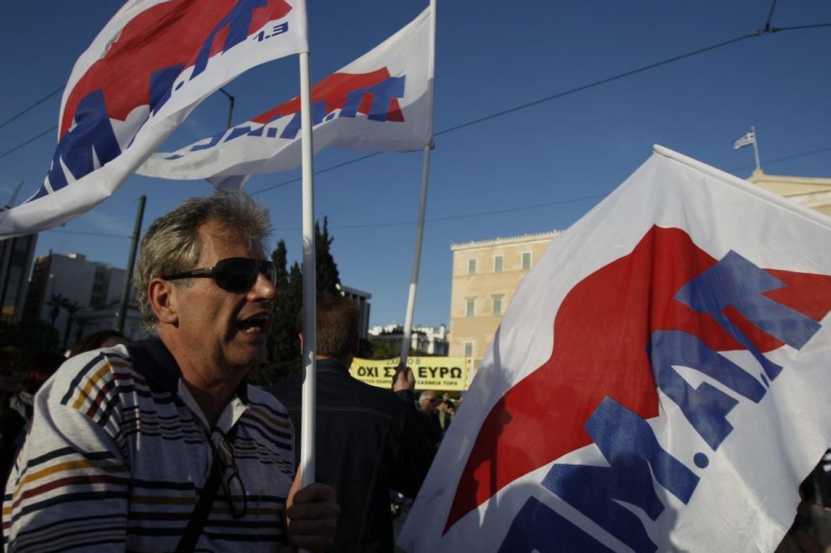 Protesty před řeckým parlamentem