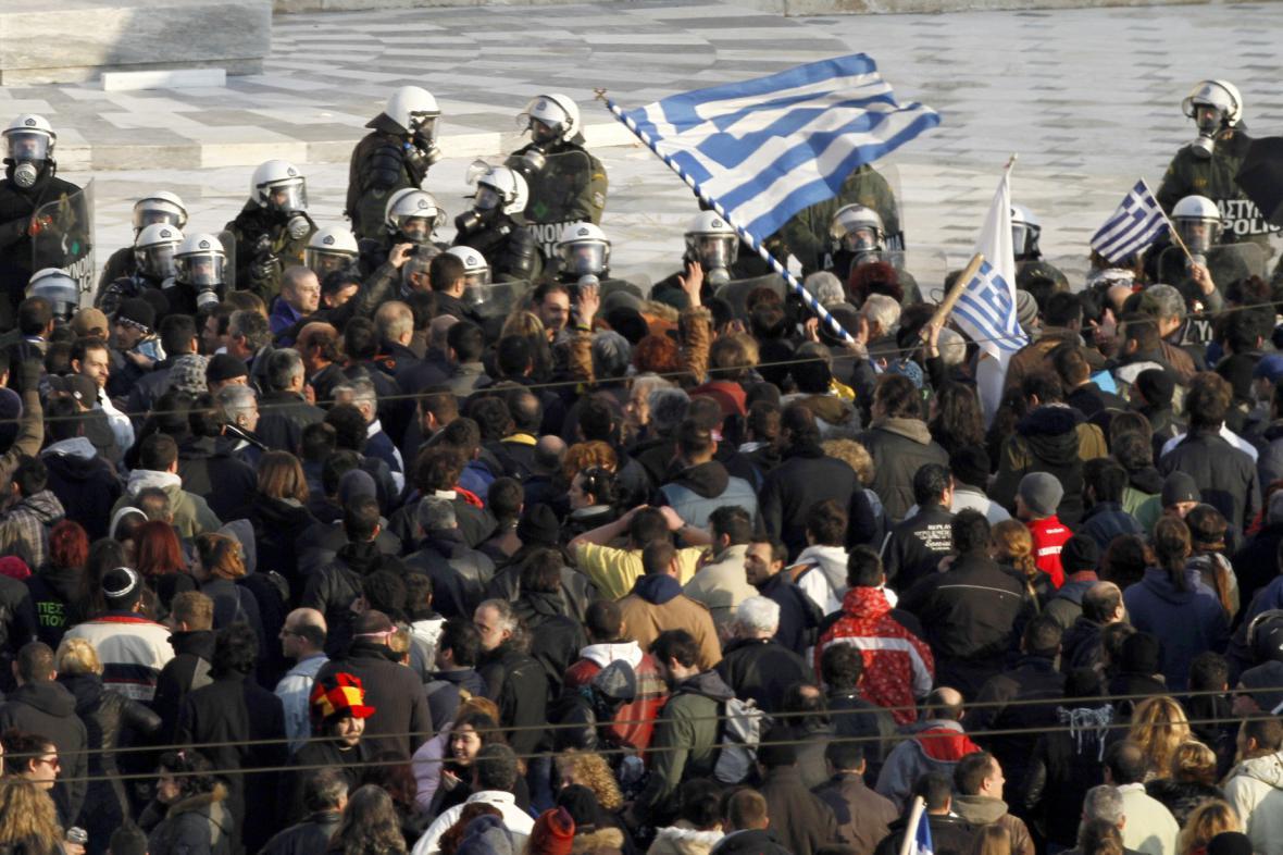 Demonstrace v Řecku