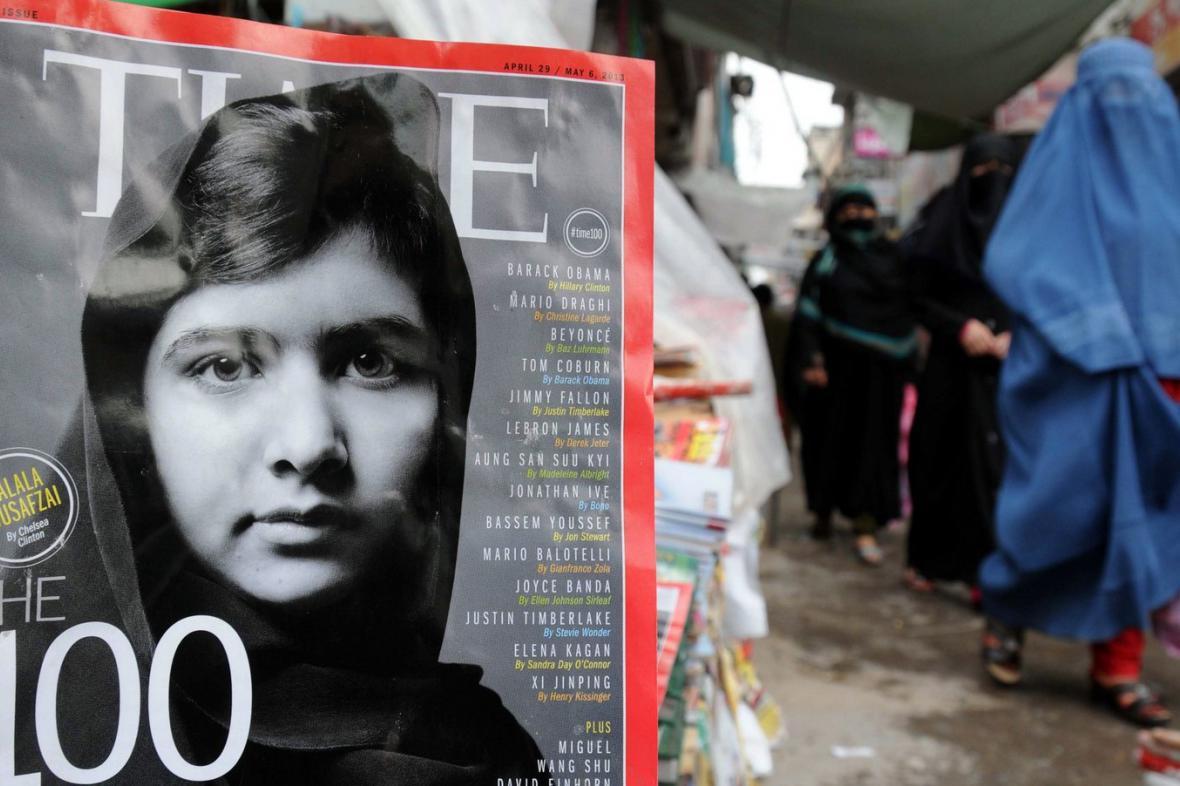 Malala Júsufzaiová na obálce časopisu Time