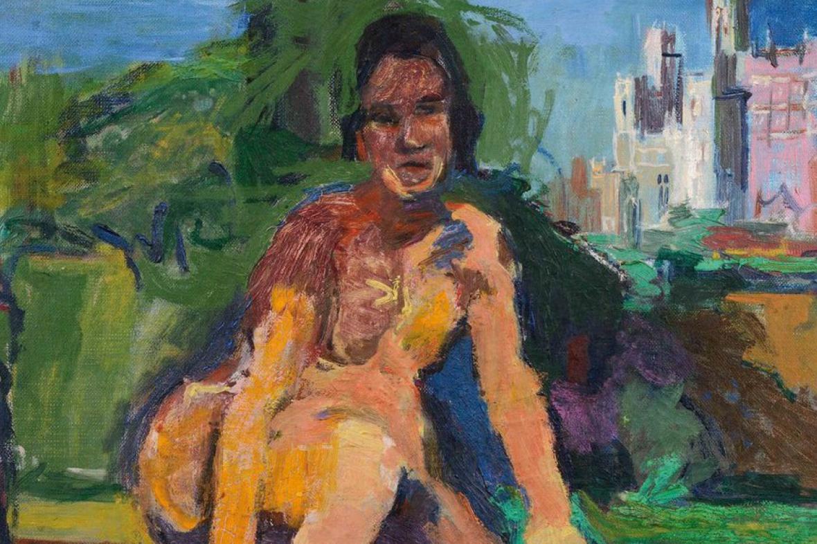 O. Kokoschka - Ženský akt před Avignonem