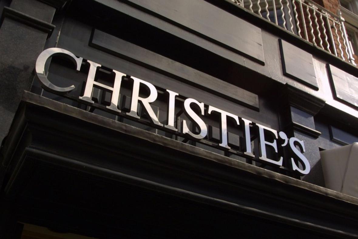 Vchod do aukční síně Christie's