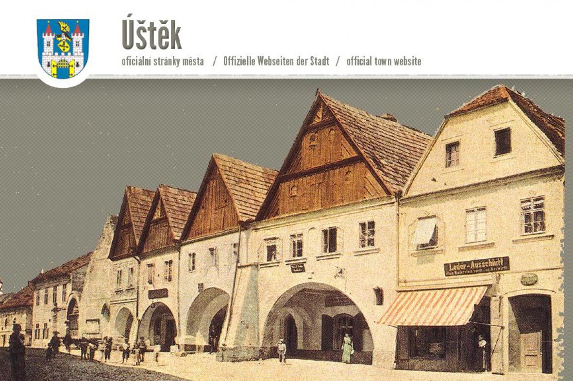 Webové stránky města Úštěk