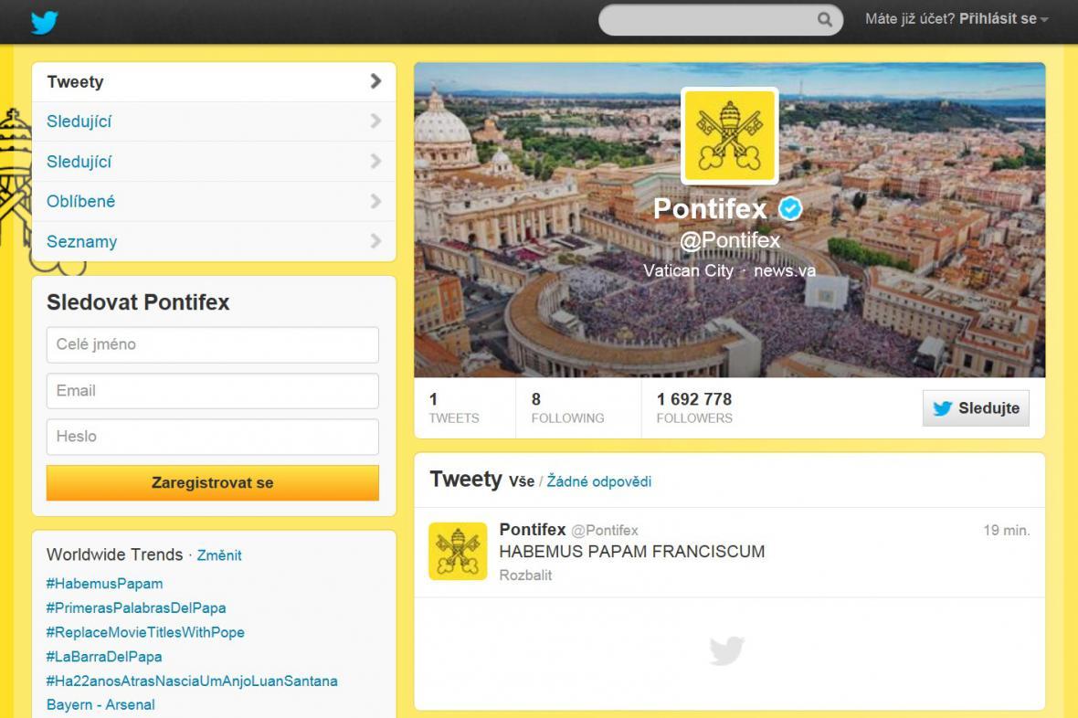 Twitterový účet @Pontifex