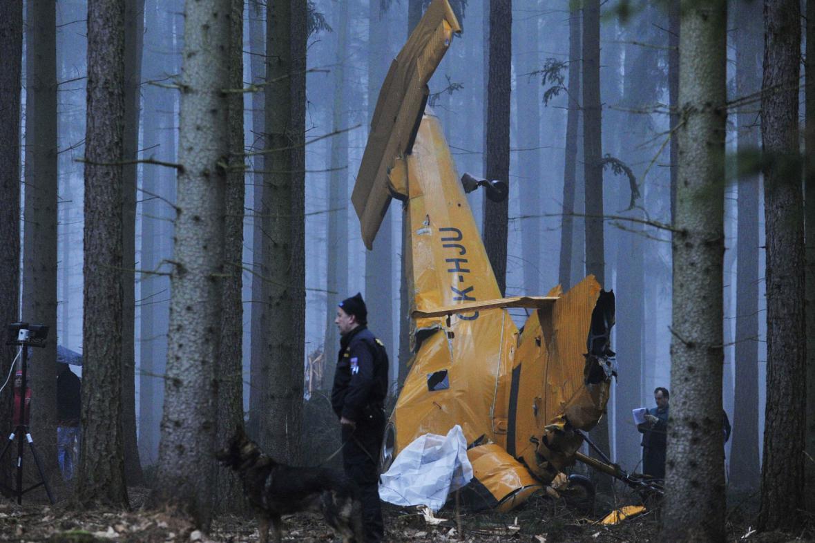Nehoda práškovacího letadla na Chrudimsku