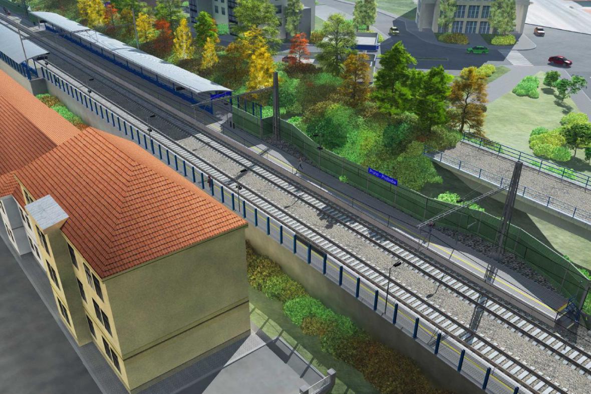 Plánovaná zastávka na Podbabě