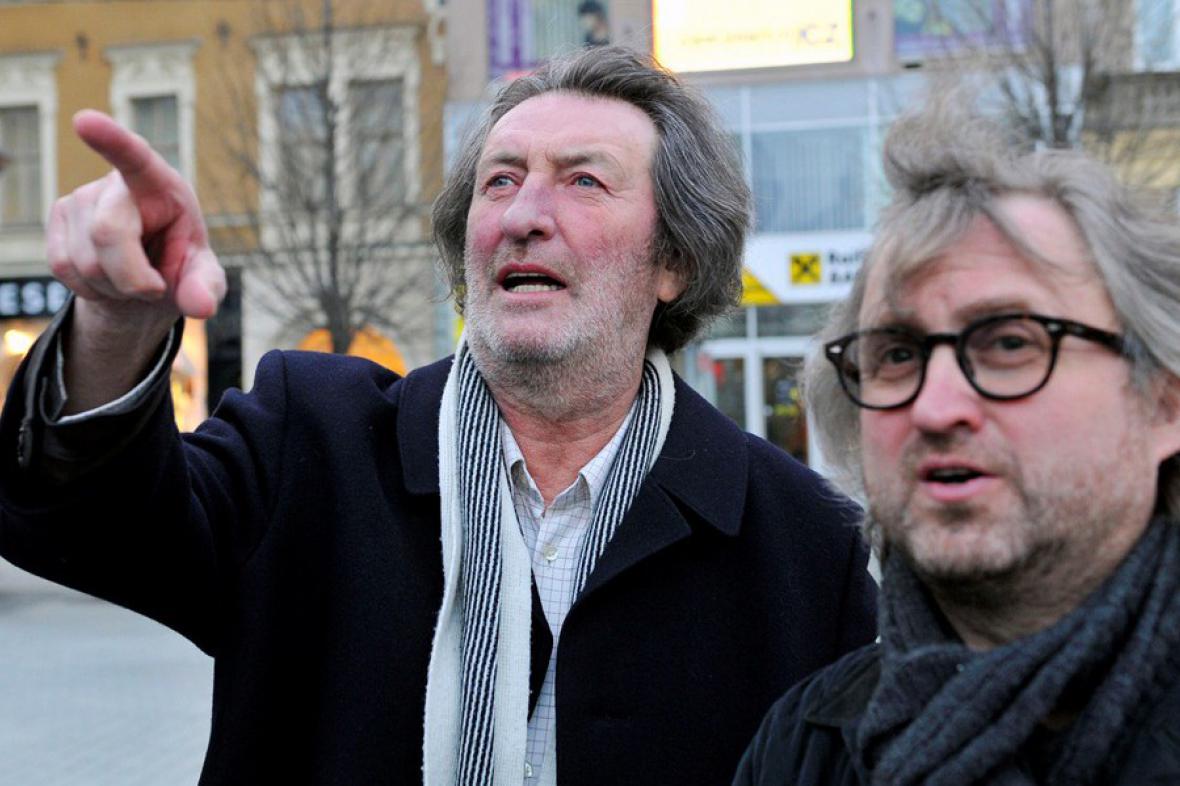 Boleslav Polívka a Jan Hřebejk před zahájením Cinema Mundi