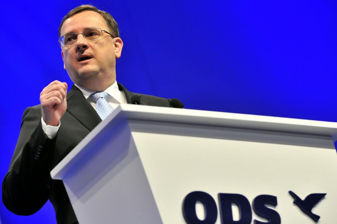 Petr Nečas na kongresu ODS