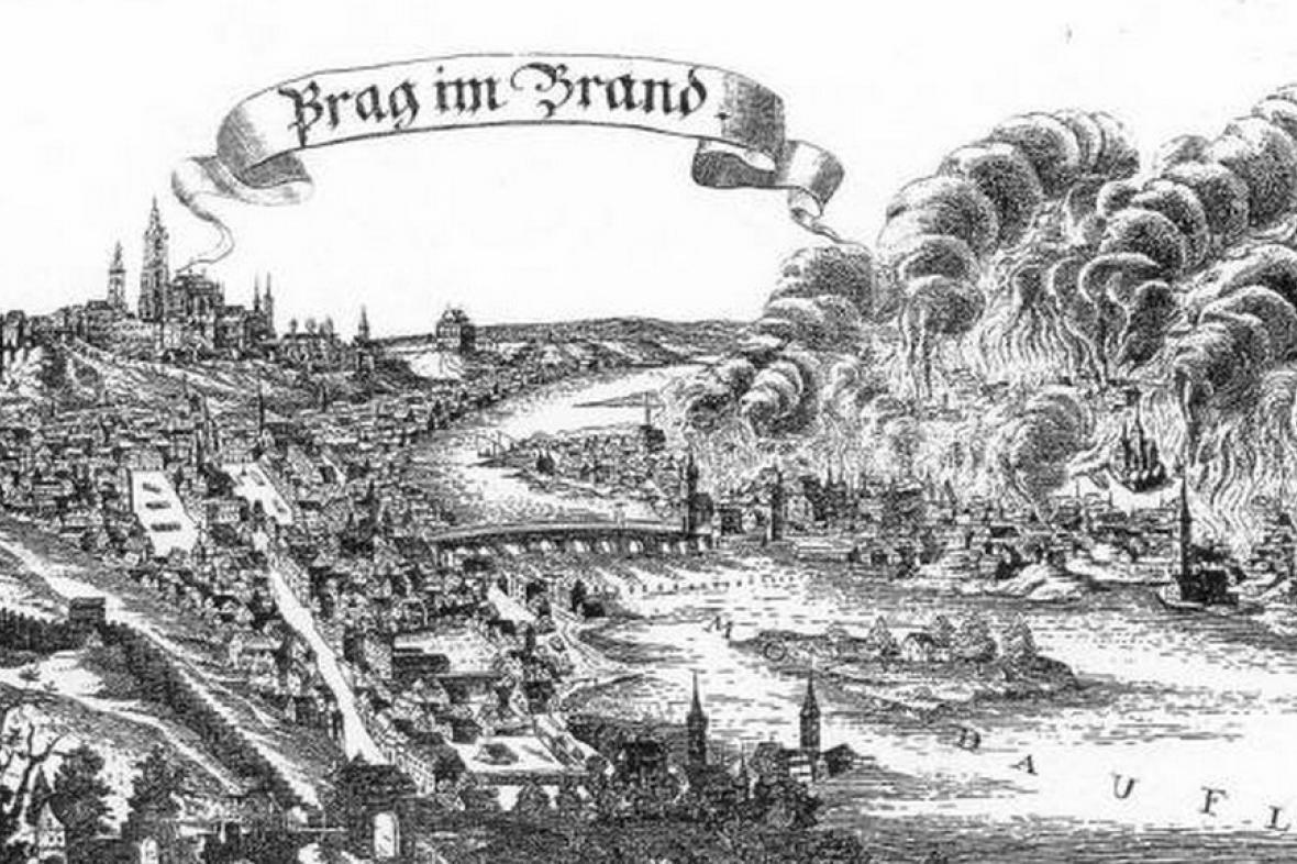Francouzský požár Prahy v roce 1689