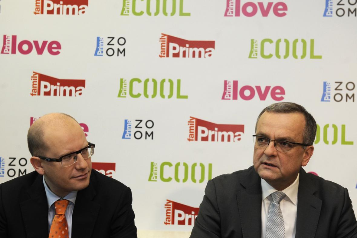 Bohuslav Sobotka a Miroslav Kalousek