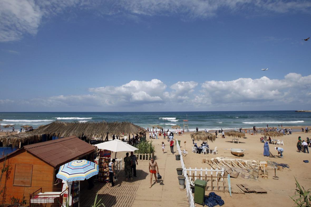 Pláž Ramlet al-Bayda nedaleko Bejrútu