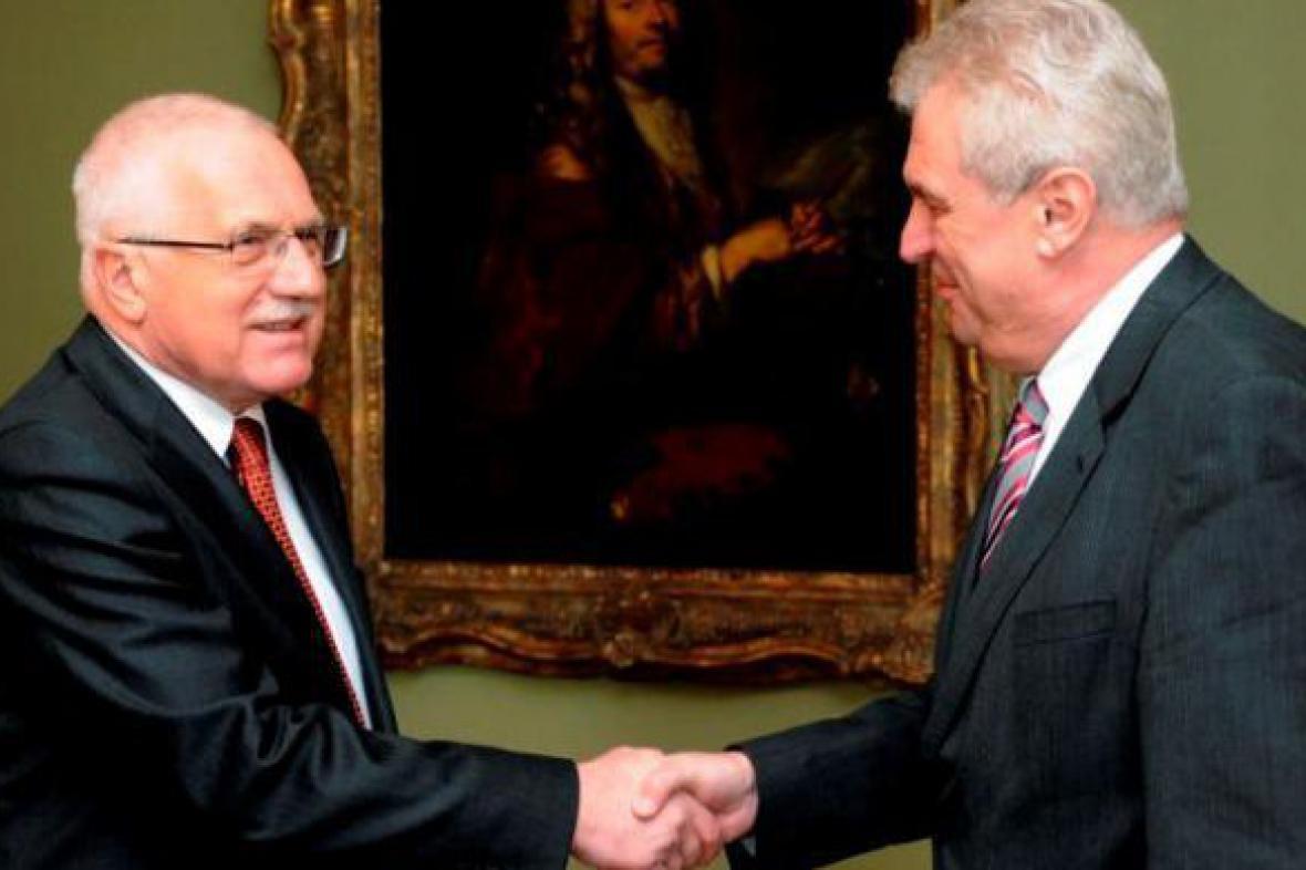 Václav Klaus s Milošem Zemanem