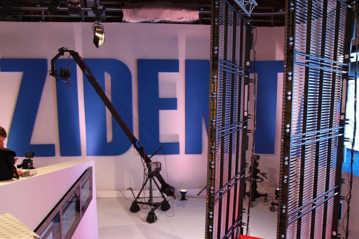 Volební studio ČT - sektor Nových médií