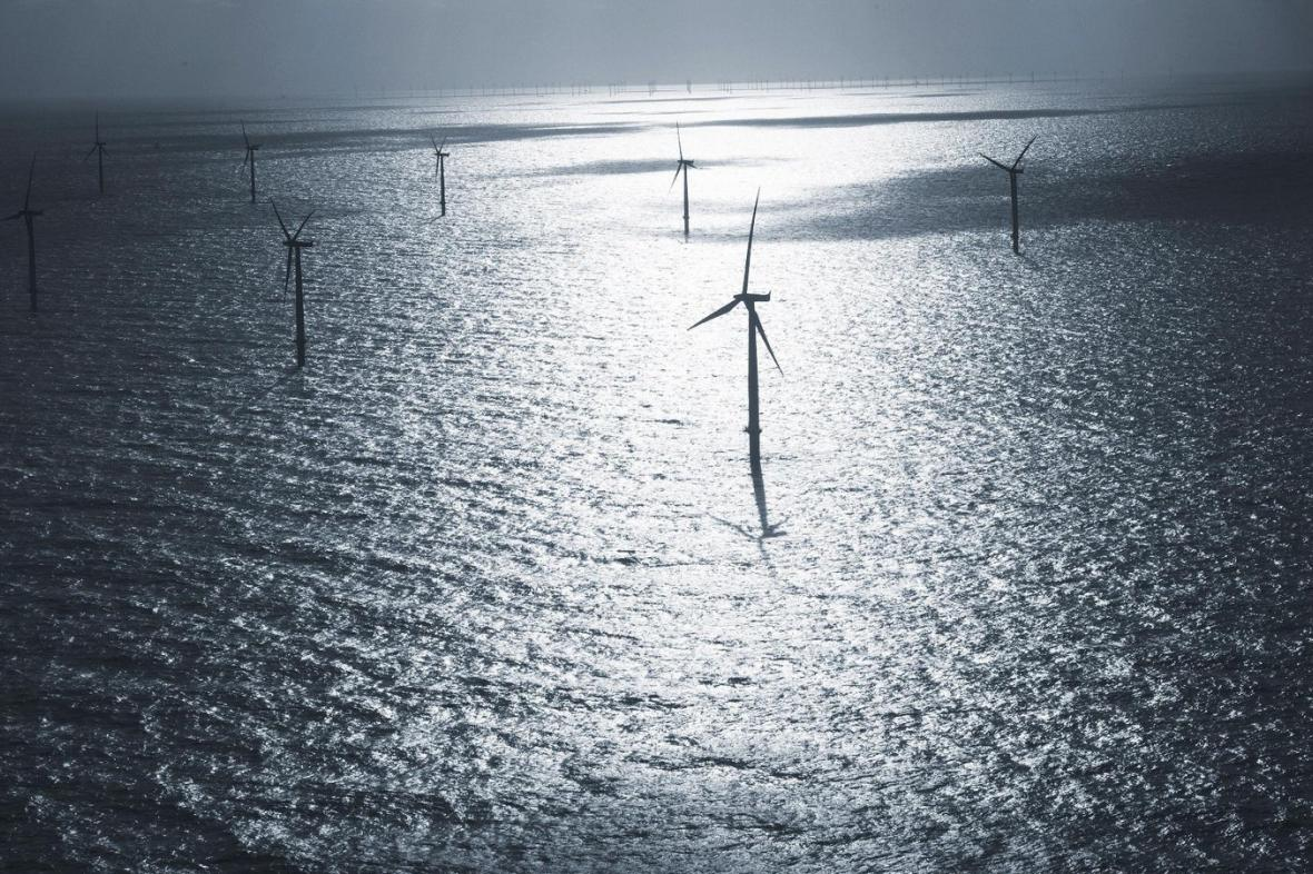 Větrná elektrárna na moři