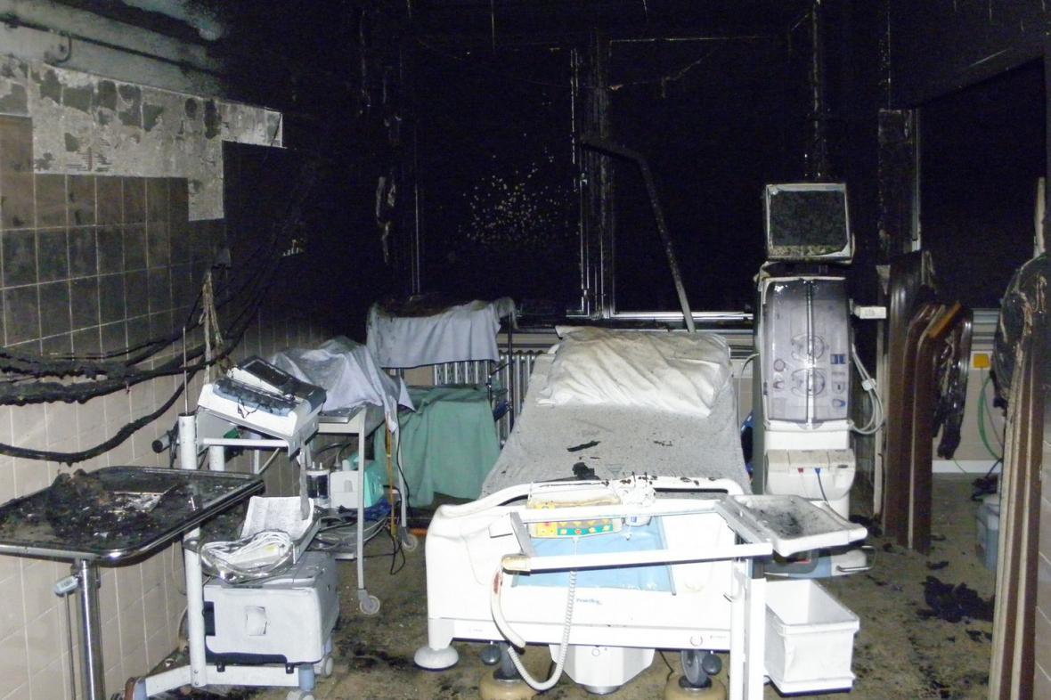 V nemocnici po požáru