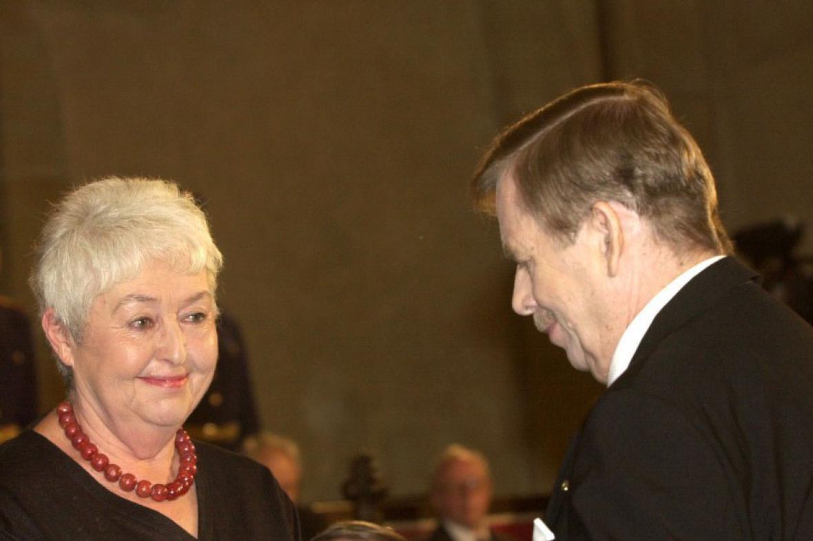 Barbara Coudenhoveová-Kalergiová a Václav Havel