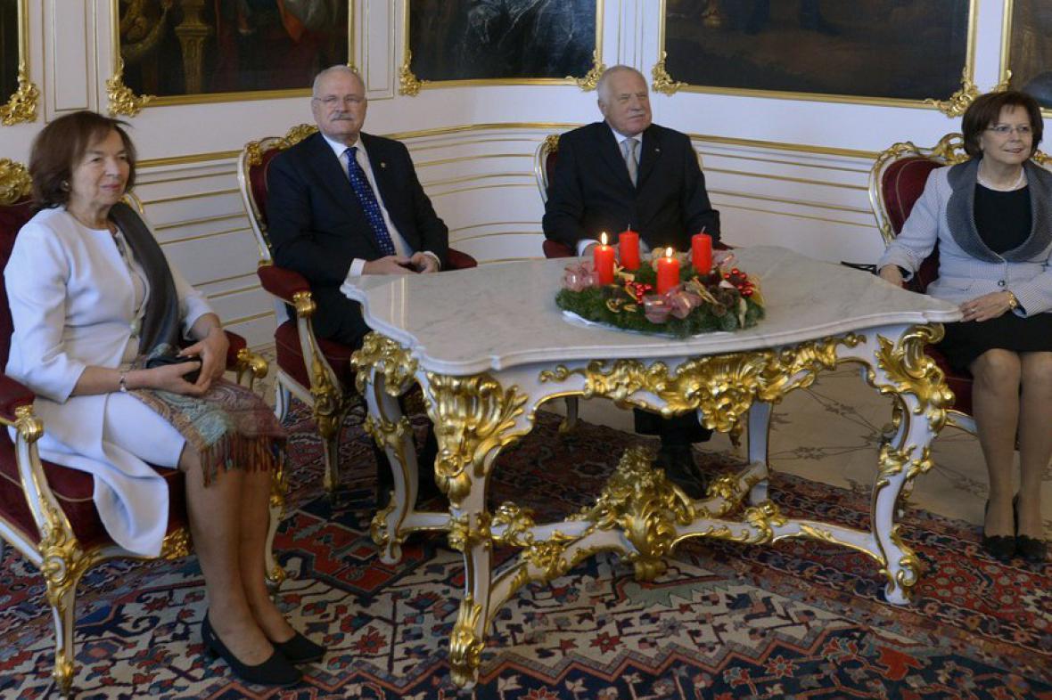 Český a slovenský prezidentský pár