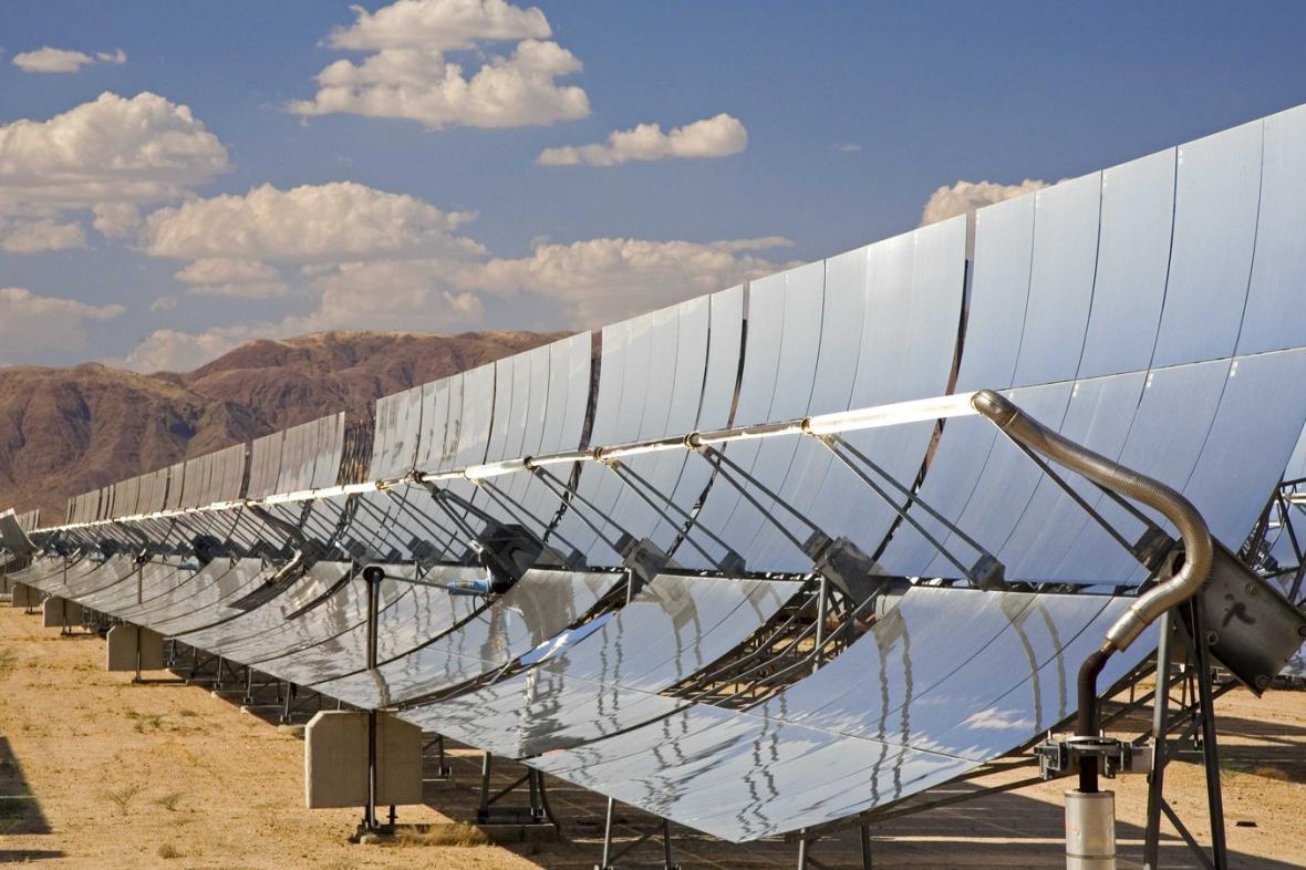 Solární park v poušti