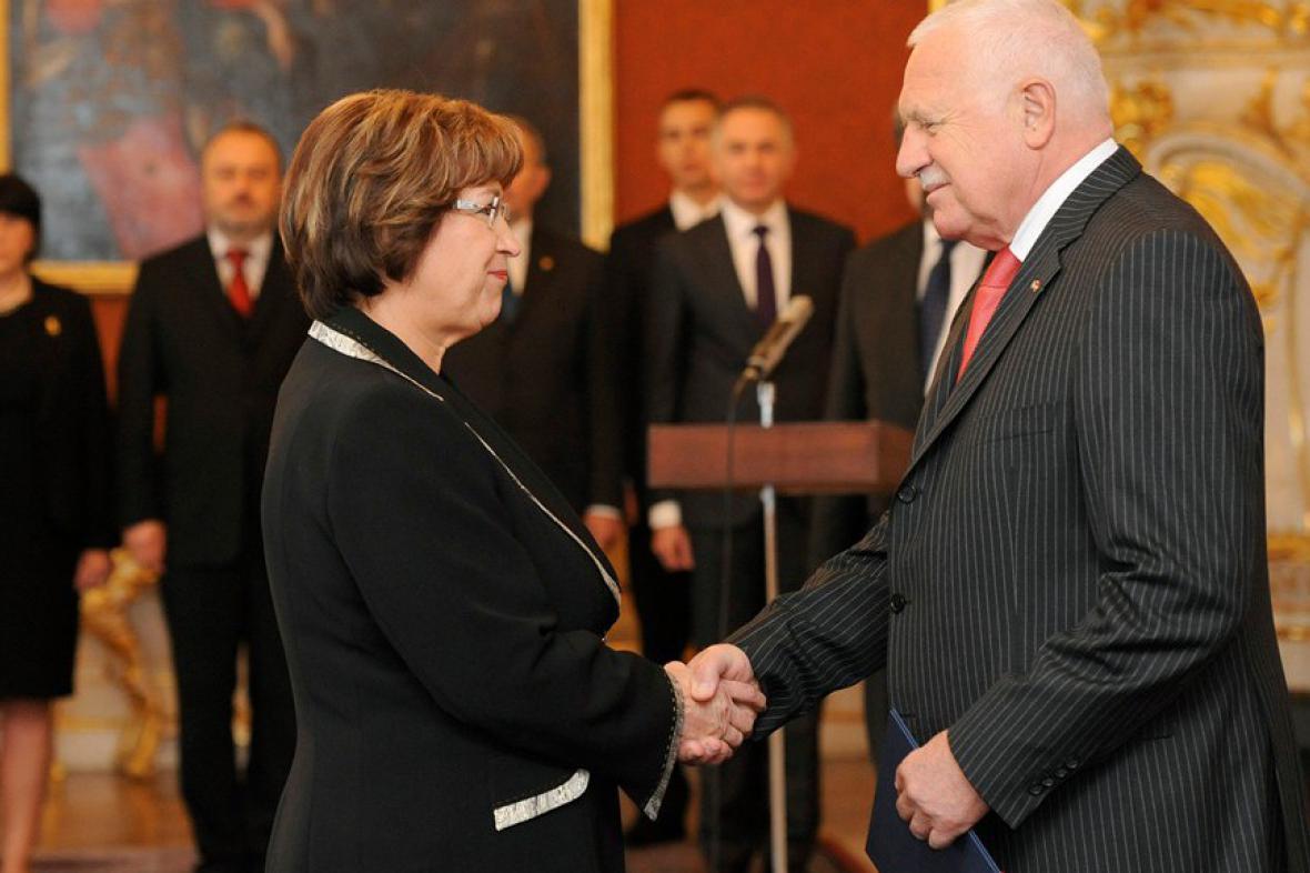Ludmila Müllerová a Václav Klaus