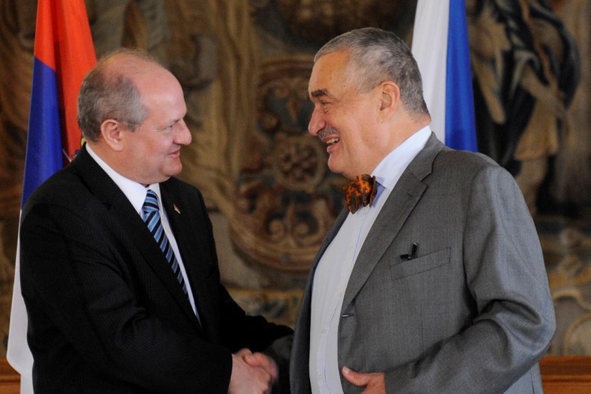 Ivan Mrkič a Karel Schwarzenberg