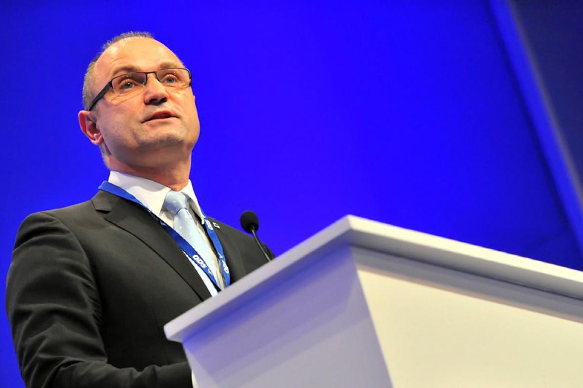 Ivan Langer na kongresu ODS