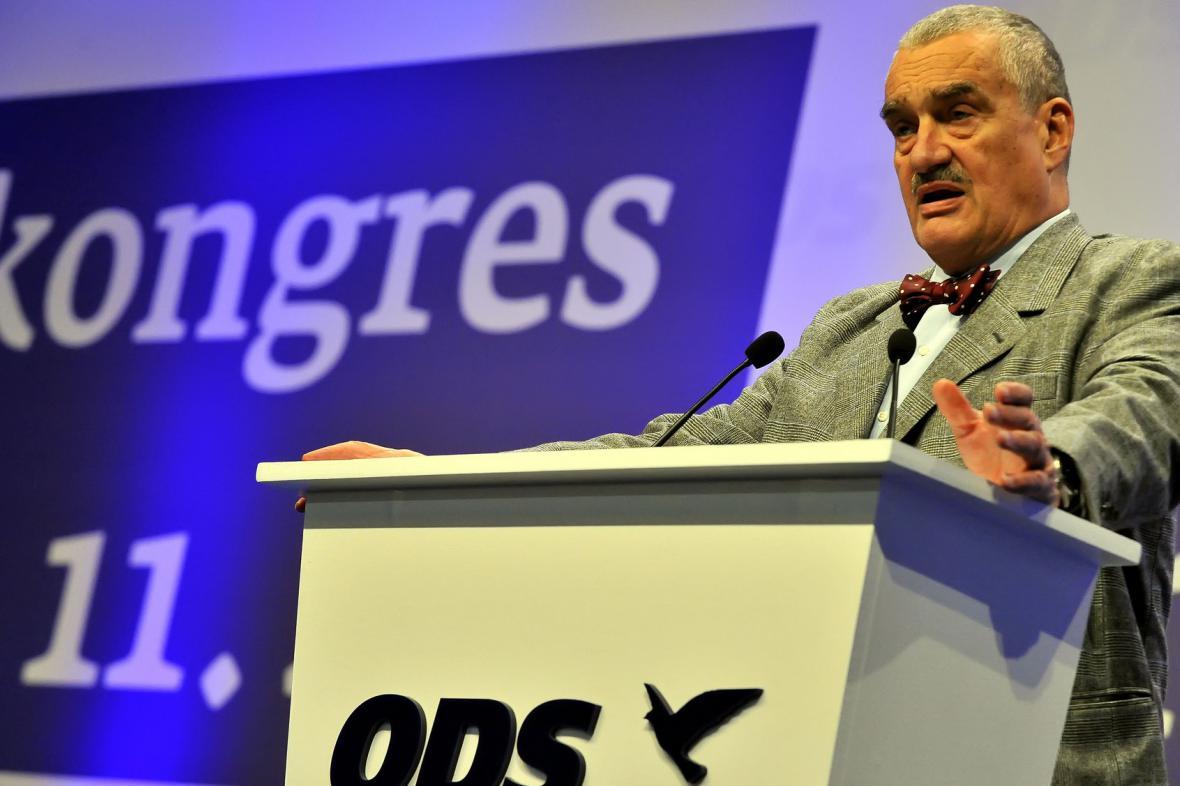 Karel Schwarzenberg na kongresu ODS