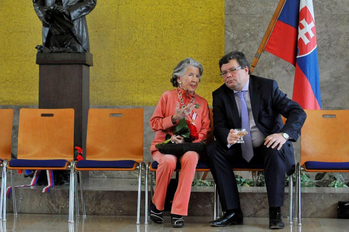 Meda Mládková a Alexandr Vondra