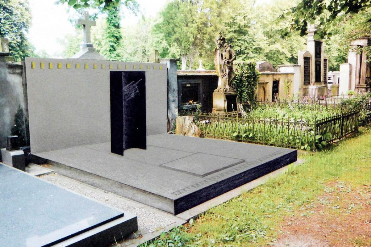Vítězný návrh na renovaci hrobky Jana Kašpara