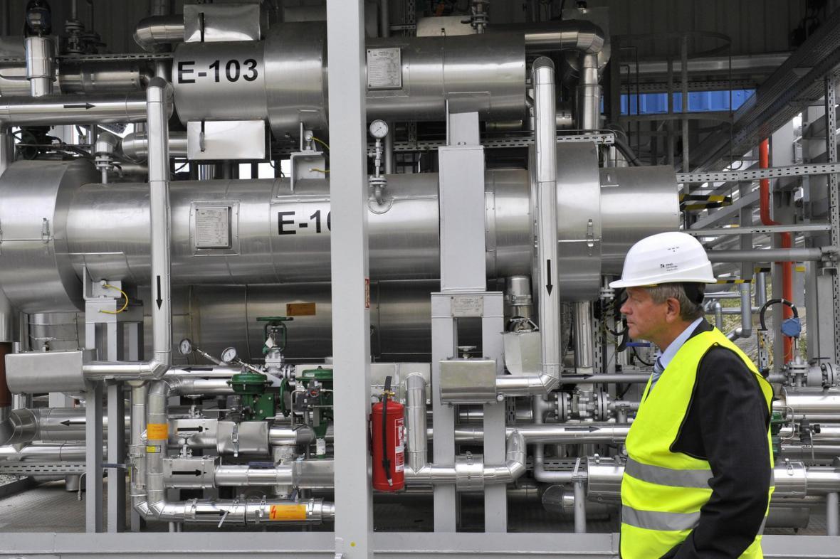 Nový zásobník plynu v Uhřicích na Hodonínsku