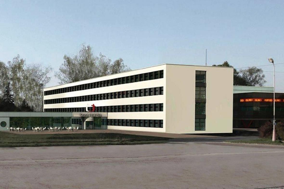 Vizualizace brněnské budovy ČT